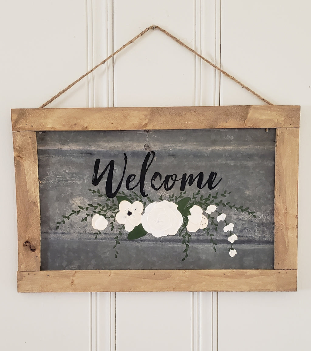 Small Tin Welcome Sign