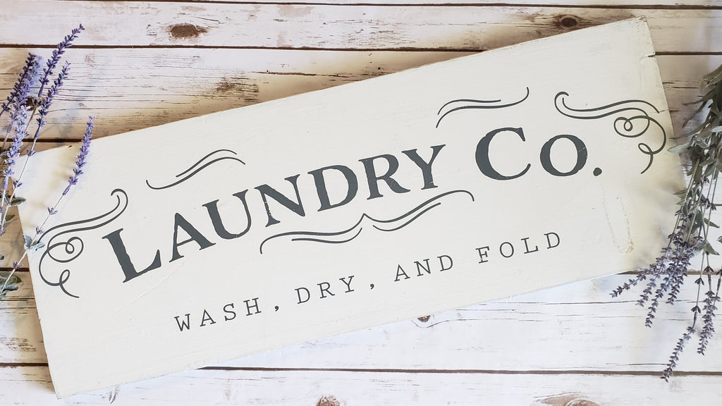 Wood Laundry Sign