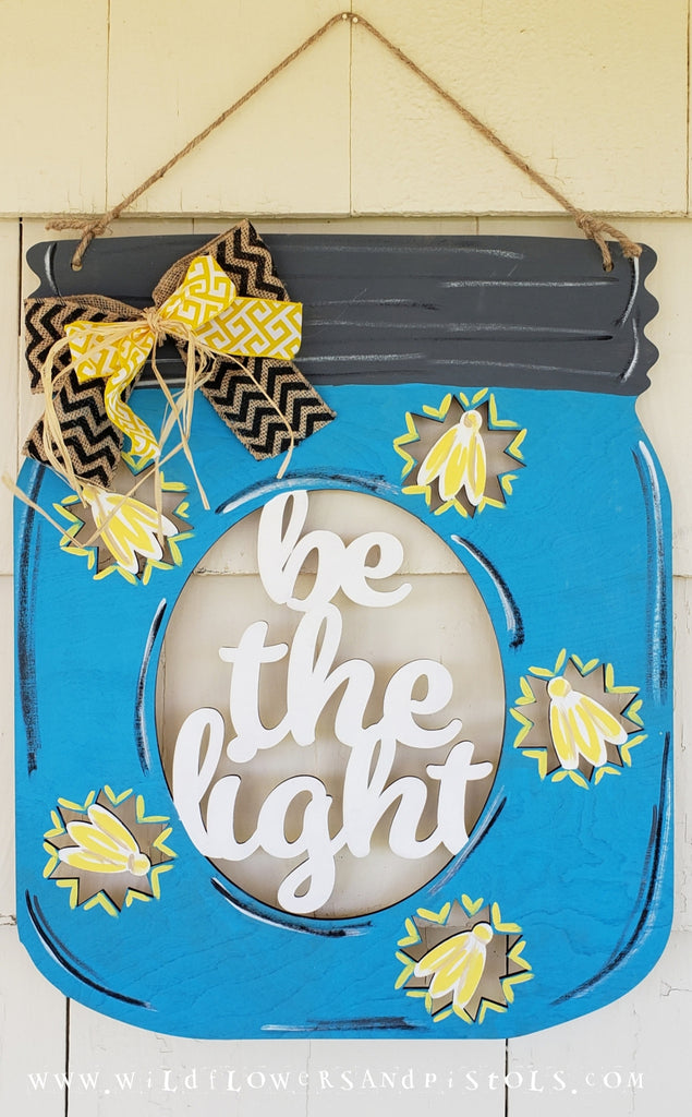 'Be the Light' Door Hanger