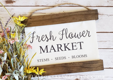 Fresh Flower Market Canvas Sign
