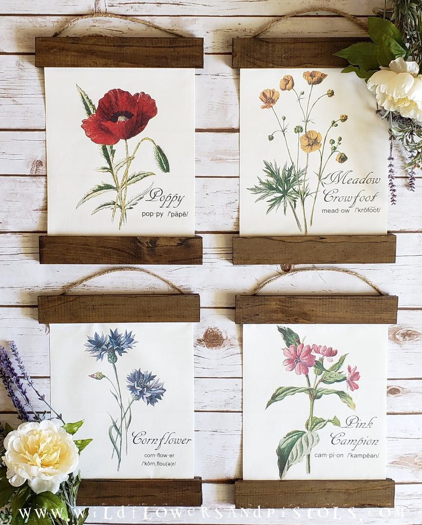 Wildflower Botanical Canvas Prints