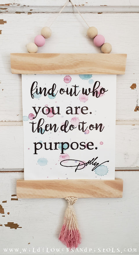 'Do it on Purpose' Framed Canvas Print