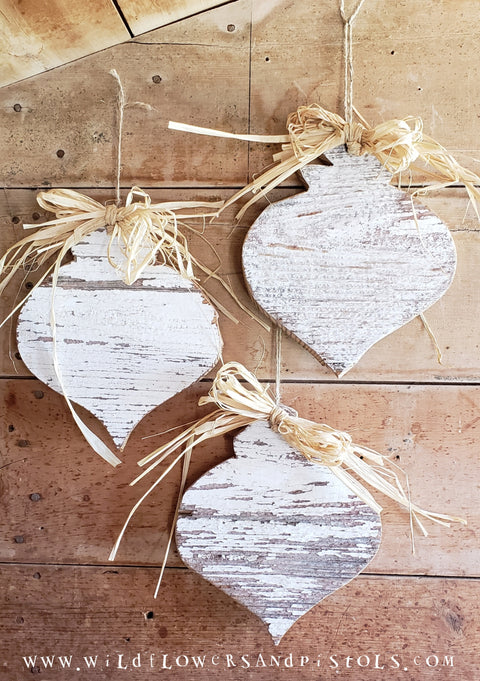 Barn Wood Ornaments