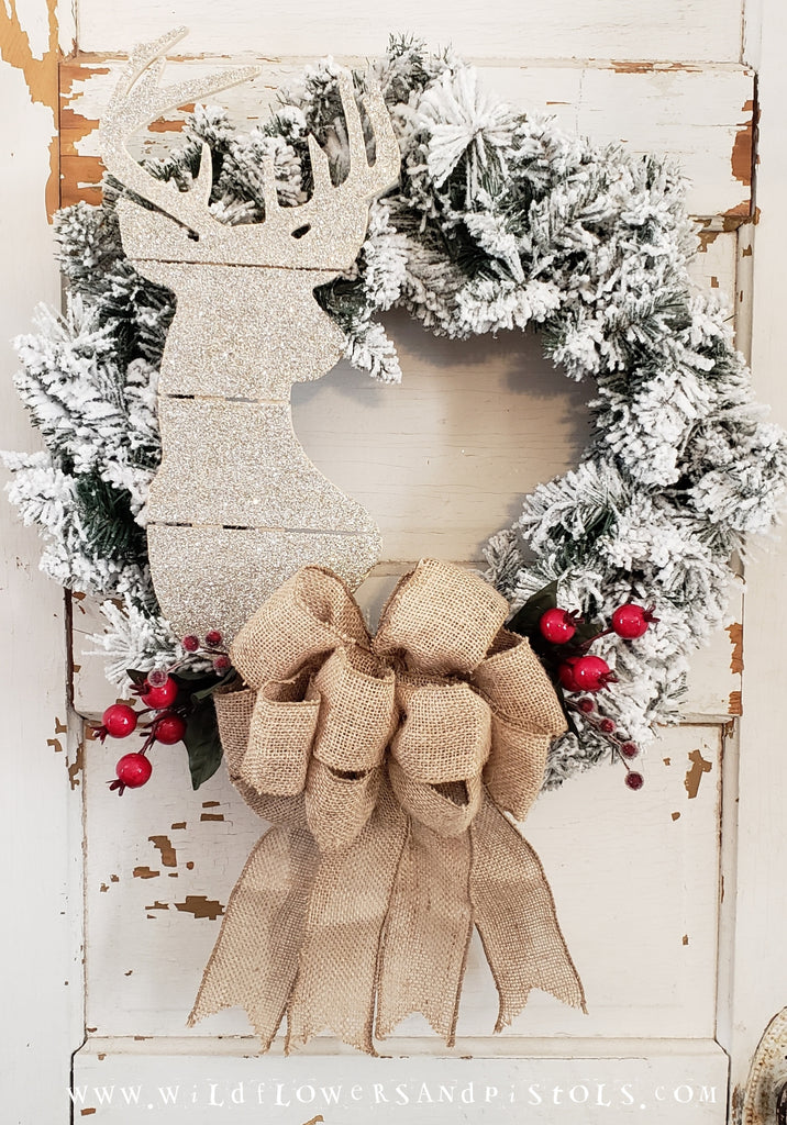 Glitter Deer Wreath