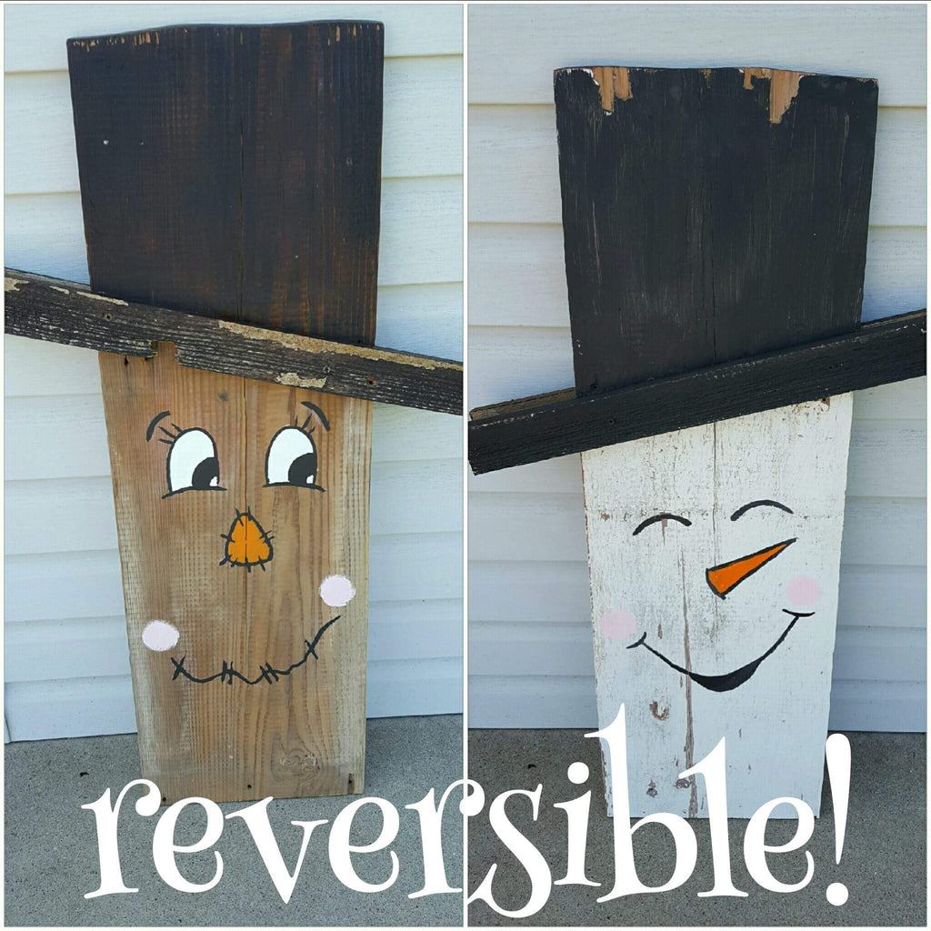 Reversible Scarecrow and Snowman Sign Class!