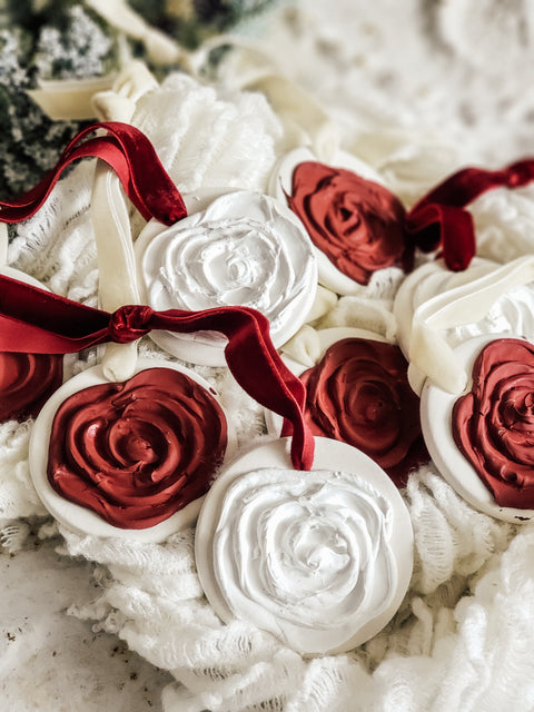 Christmas Rose Ornaments