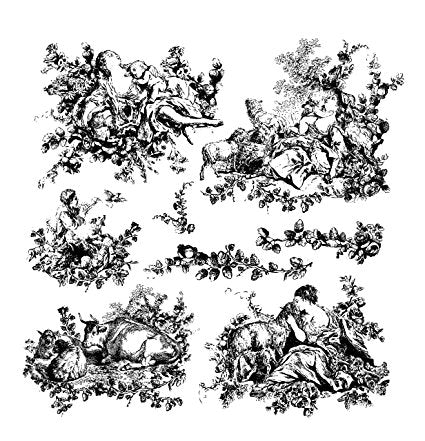 Decor Stamp - Pastoral Toile