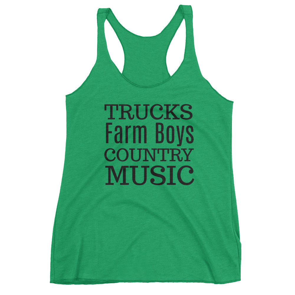 Trucks Farm Boys Country Music Tank
