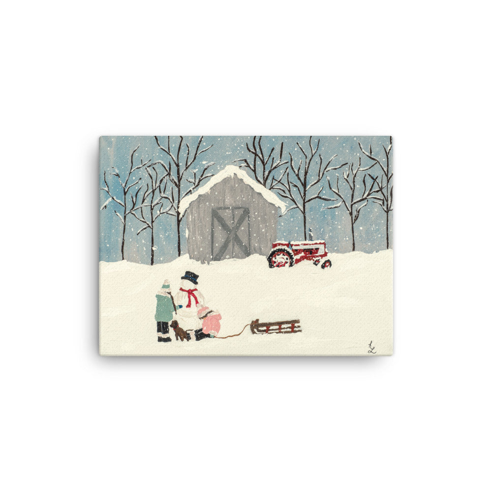 Christmas On the Farm Canvas Print