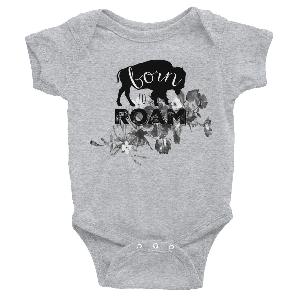 Born to Roam Floral Infant Bodysuit