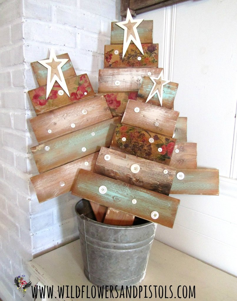 Pallet Wood Christmas Trees Class Wildflowers Pistols