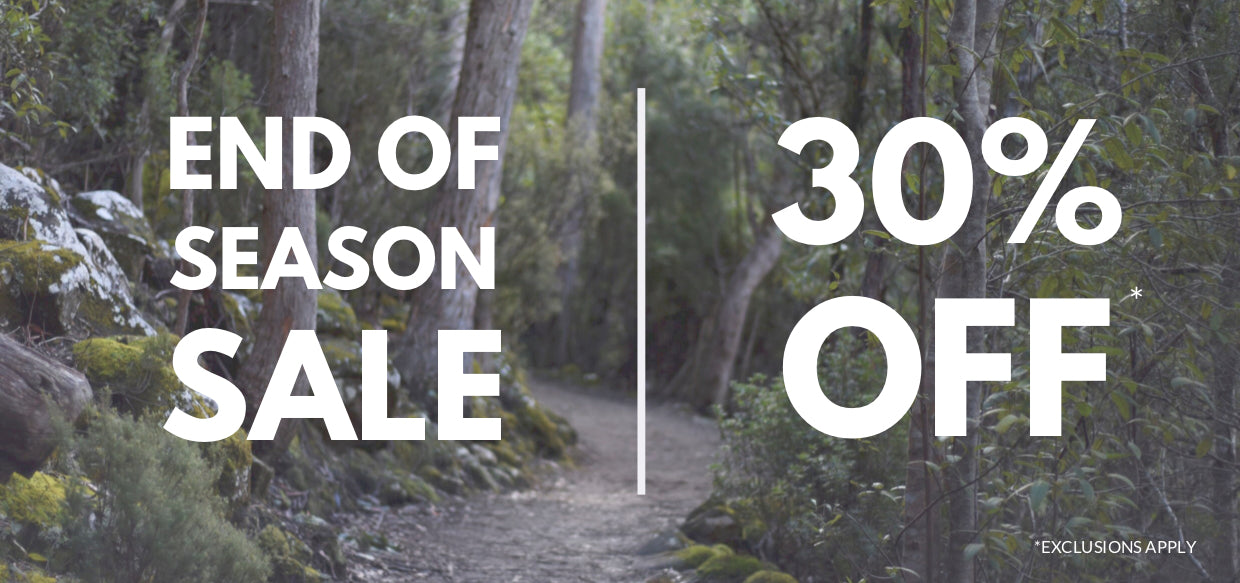 End of season sale 30% off