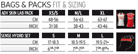 Salomon S-Lab Sizing Chart