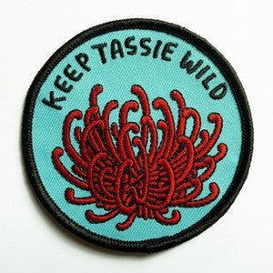 Keep Tassie Wild - Waratah Badge - Find Your Feet Australia Hobart Launceston Tasmania