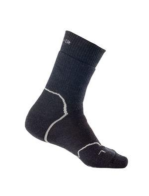 Icebreaker Hike+ Heavy Crew Socks (Men's) - Jet Heather Black - Find Your Feet Australia