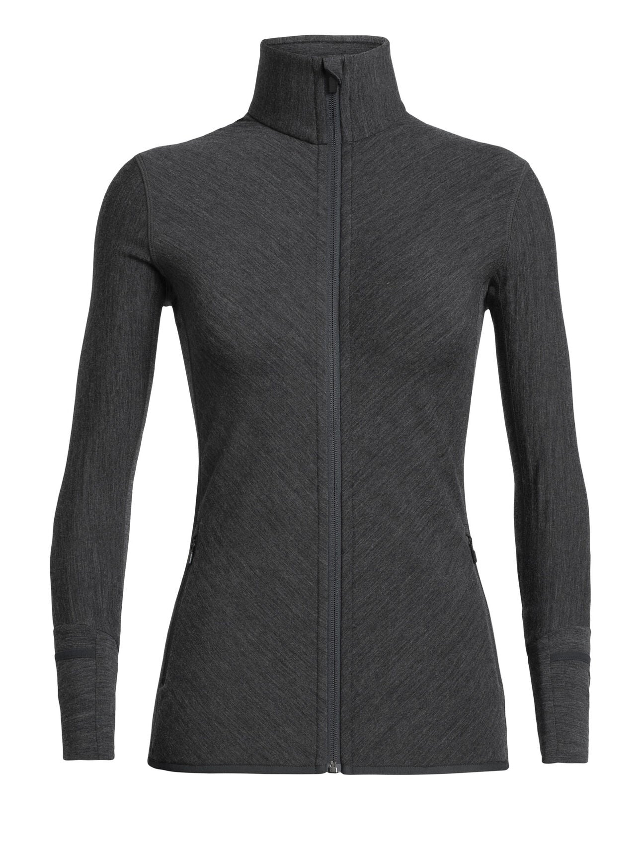Icebreaker Descender LS Zip (Women's) - Jet Heather - Find Your Feet Australia Hobart Launceston Tasmania