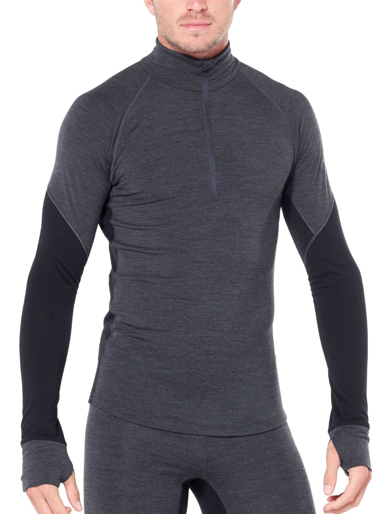 Icebreaker 260 Zone LS Half Zip (Men's) Jet Heather Black W20 - Find Your Feet Australia Tasmania Hobart Launceston