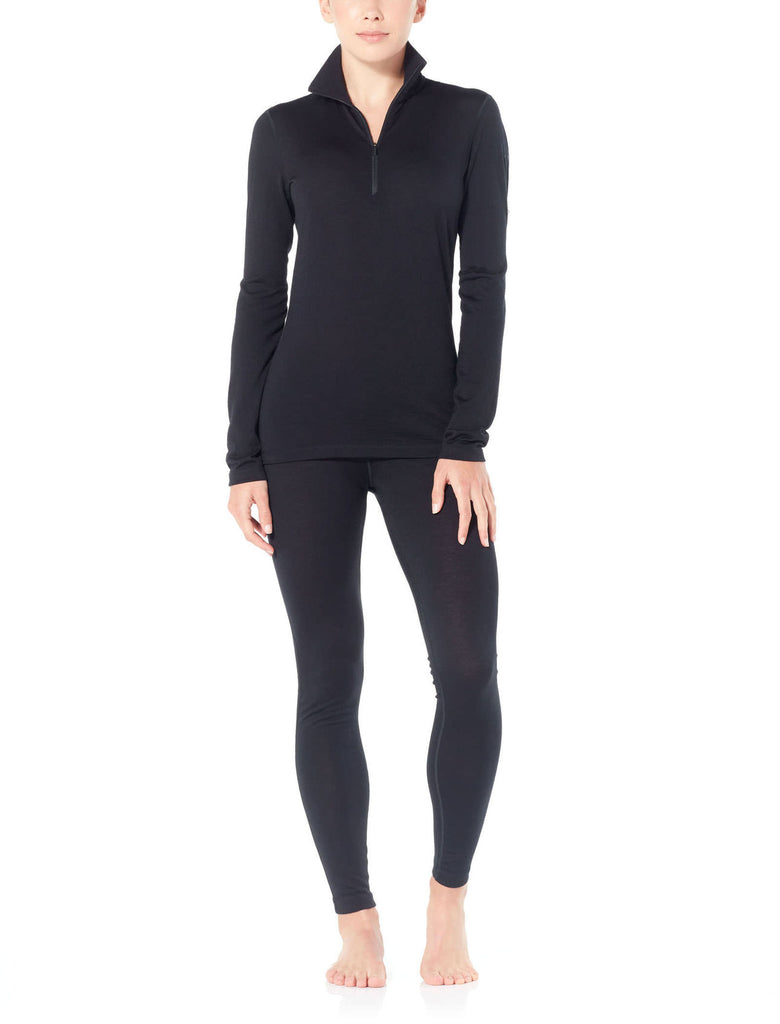 Icebreaker 200 Oasis LS Half Zip Merino Black (Women's) - Find Your Feet - Australia Hobart Launceston Tasmania