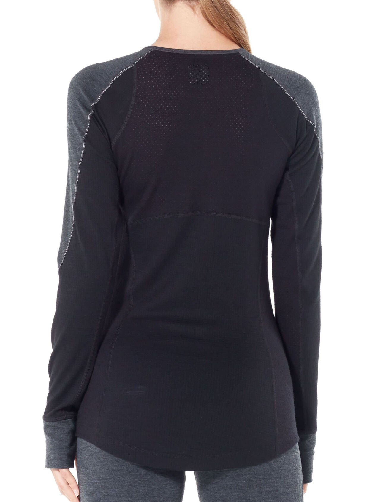 Icebreaker 260 Zone LS Crewe (Women's) Jet Heather Black W20 - Find Your Feet Australia Tasmania Hobart Launceston