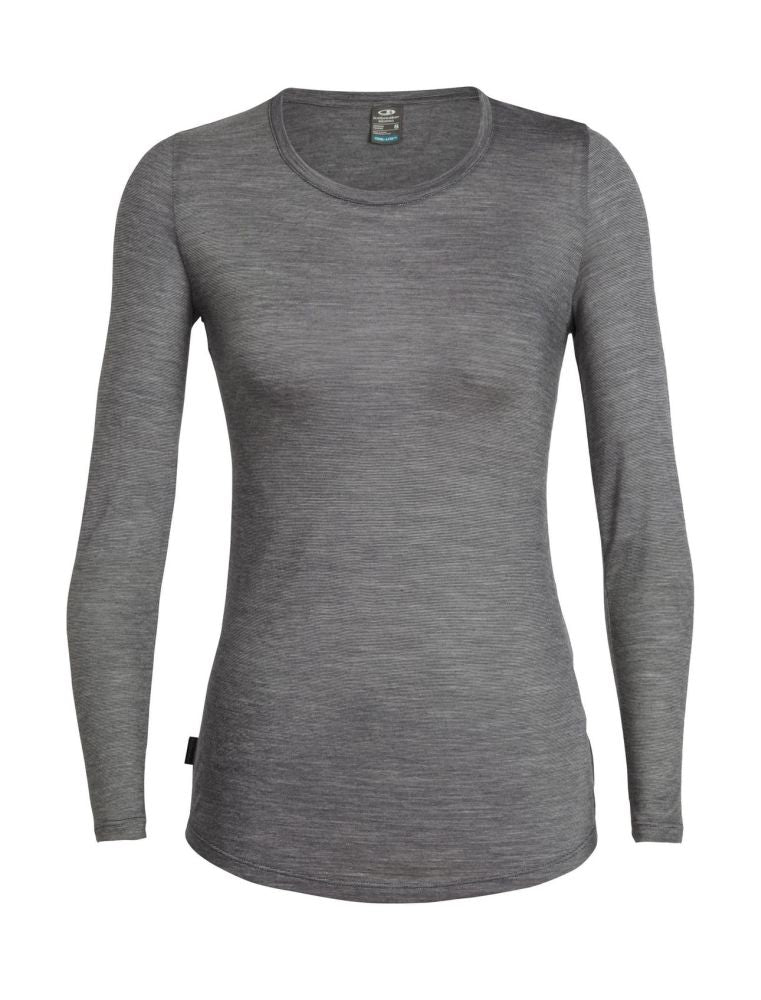 Icebreaker Sphere LS Low Crewe (Women's) - Panther - Find Your Feet Australia Hobart Launceston Tasmania