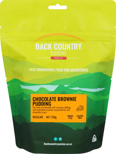 Back Country Cuisine Chocolate Brownie Pudding - Find Your Feet Australia Hobart Launceston Tasmania