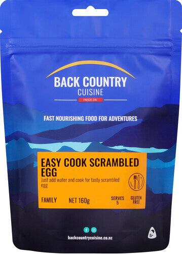 Back Country Cuisine Easy Cook Scrambled Eggs - Find Your Feet Australia Hobart Launceston Tasmania