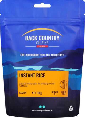 Back Country Instant Rice - Find Your Feet Australia Hobart Launceston Tasmania