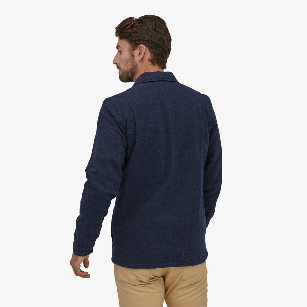 Patagonia Insulated Fjord Flannel Jacket (Men's) - Navy Blue - Find Your Feet Australia Hobart Launceston Tasmania