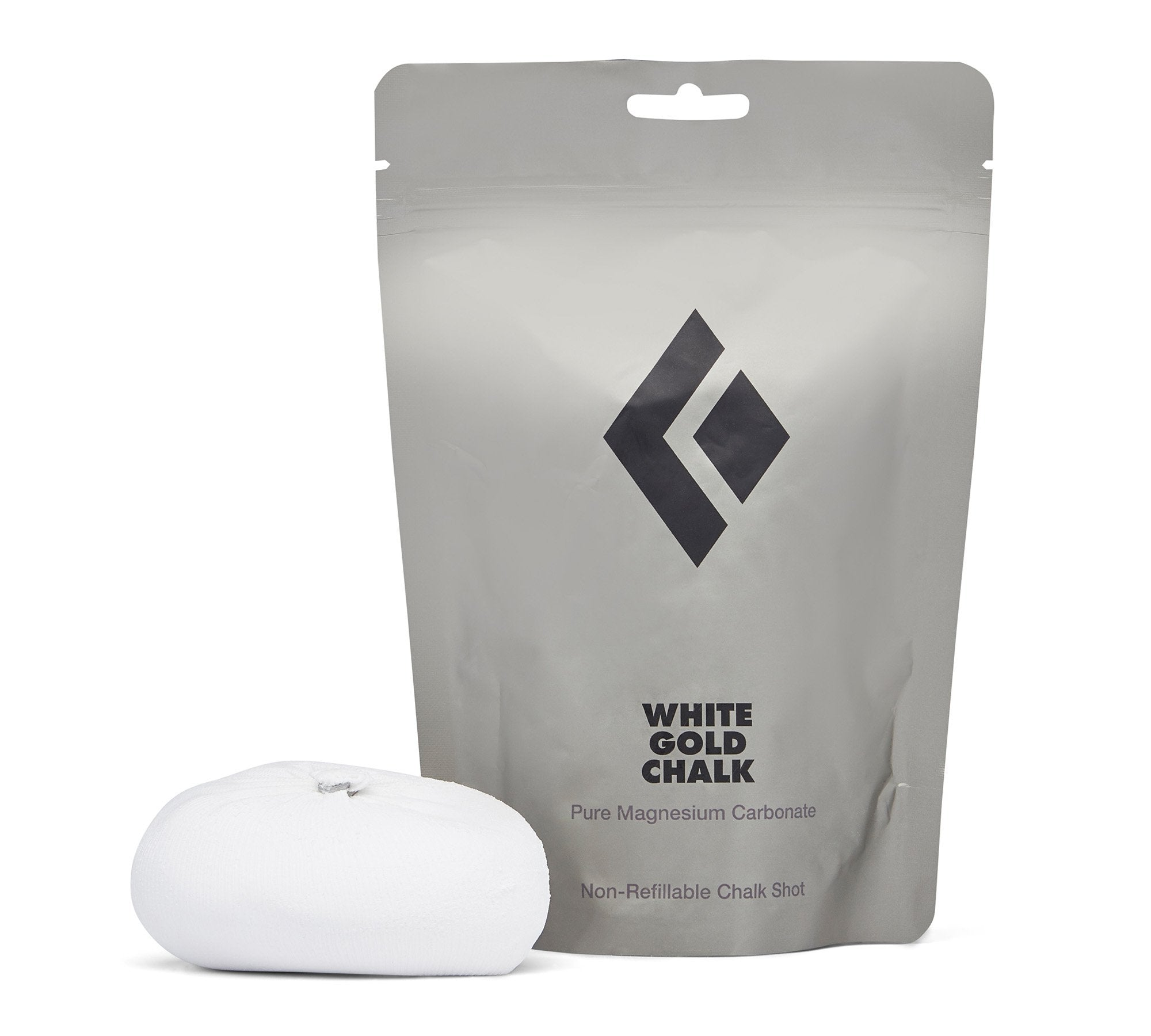Black Diamond White Gold Refillable Chalk Ball - Find Your Feet Australia Hobart Launceston Tasmania