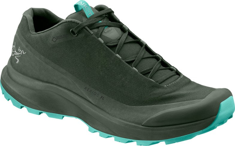 Arcteryx Aerios FL GTX Hiking Shoes (Women's) - Shorepine/Illucinate - Find Your Feet Australia Tasmania Hobart Launceston