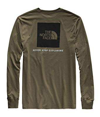 The North Face Red Box LS Tee (Men's) - Find Your Feet - Hobart Australia Tasmania New Taupe Green Black Lifestyle