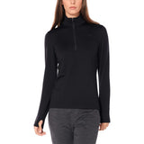 Icebreaker Original LS Half Zip Top (Women's) - Black - Find Your Feet Australia Hobart Launceston Tasmania
