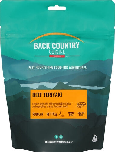 Back Country Cuisine Beef Teriyaki - Find Your Feet Australia Hobart Launceston Tasmania