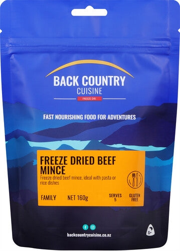 Back Country Cuisine Freeze Dried Beef Mince - Find Your Feet Australia Hobart Launceston