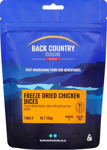 Back Country Cuisine Meals - Chicken Dices - Find Your Feet Australia Hobart Launceston Tasmania