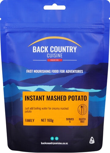 Back Country Cuisine Instant Mashed Potato - Find Your Feet Australia Hobart Launceston Tasmania
