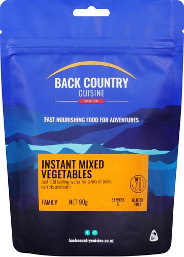 Back Country Cuisine Instant Mixed Vegetables - Find Your Feet Australia Hobart Launceston Tasmania