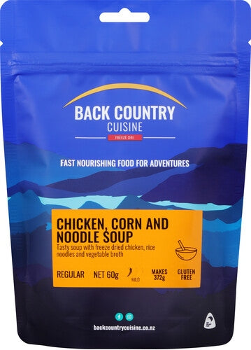 Back Country Cuisine Chicken, Corn and Noodle Soup - Find Your Feet Australia Hobart Launceston Tasmania