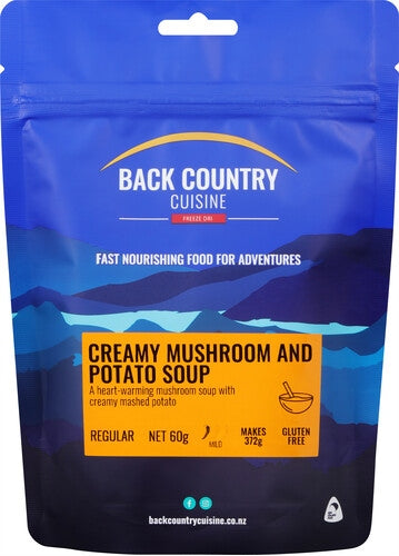 Back Country Cuisine Creamy Mushroom and Potato Soup - Find Your Feet Australia Hobart Launceston Tasmania
