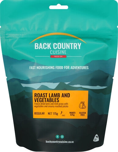 Back Country Cuisine Roast Lamb & Vegetables - Find Your Feet Australia Hobart Launceston Tasmania