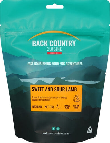 Back Country Cuisine Sweet and Sour Lamb - Find Your Feet Australia Hobart Launceston Tasmania