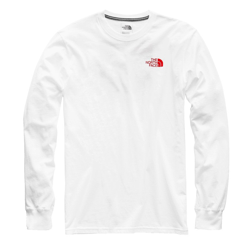 The North Face Red Box LS Tee (Men's) - TNF White/TNF Red - Find Your Feet Australia Tasmania
