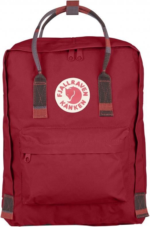 Fjallraven Kanken Backpack - Deep Red Random Blocked - Find Your Feet Australia Hobart Launceston Tasmania