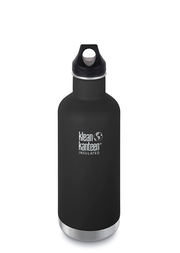 Klean Kanteen Insulated Classic Loop Cap 946ml (32oz) - Shale Black - Find Your Feet Australia Hobart Launceston Tasmania