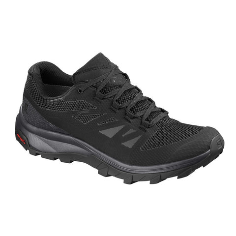Salomon Outline GTX Hiking Shoe (Men's) - Black Phantom Magnet - Find Your Feet Australia