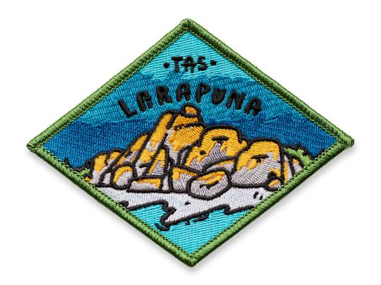 Keep Tassie Wild Badge - Larapuna - Find Your Feet Australia Hobart Launceston Tasmania