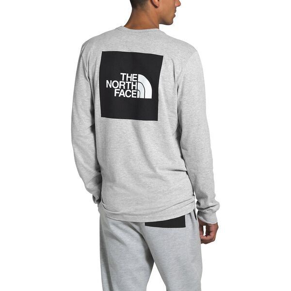 The North Face Box LS Tee (Men's) - TNF Light Grey Heather - Find Your Feet Australia Hobart Launceston Tasmania