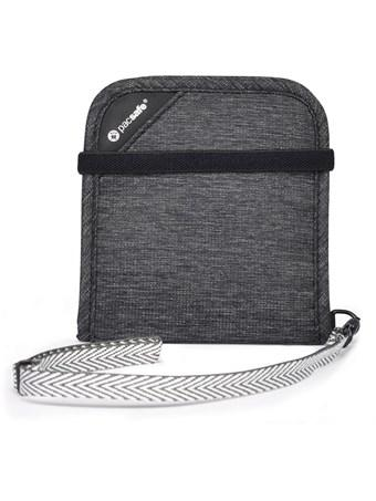 Pacsafe RFIDSAFE V100 Travel Wallet - Granite Melange - Find Your Feet Australia Hobart Launceston Tasmania