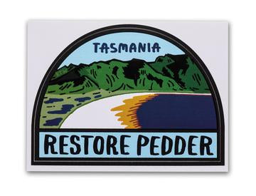 Keep Tassie Wild - Restore Lake Pedder Sticker - Find Your Feet Australia Hobart Launceston Tasmania