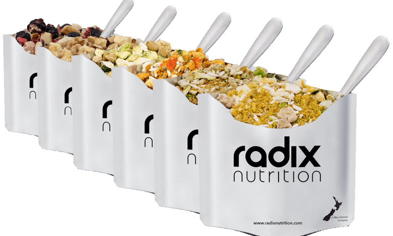 Radix Nutrition Meals - Find Your Feet Australia Hobart Launceston Tasmania